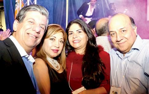 José Schuster, Martha Checa, Silvia Méndez y José Bendezú