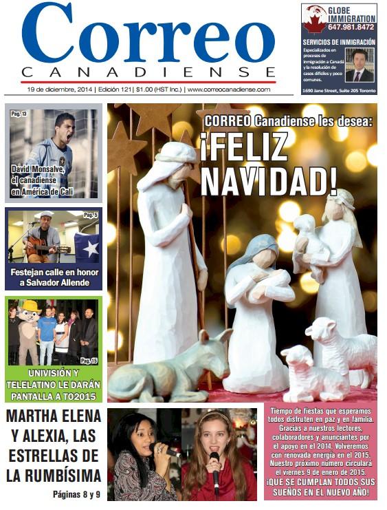 Correo Canadiense. Portada Nro 121. 19 de diciembre de 2015