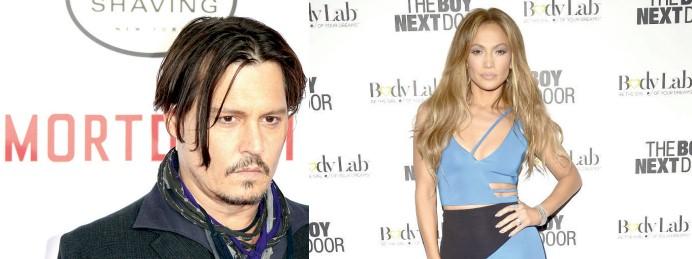 Jennifer López y Johnny Depp, dos de las grandes estrellas de Hollywood