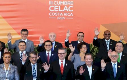 Participantes de la reunión de cancilleres de la III Cumbre de la Comunidad de estados latinoamericanos y Caribeños (Celac) . eFe