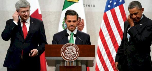 Harper, Peña Nieto y Obama