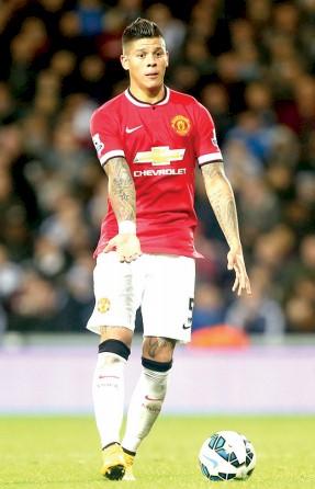 El futbolista argentino del Manchester United Marcos Rojo