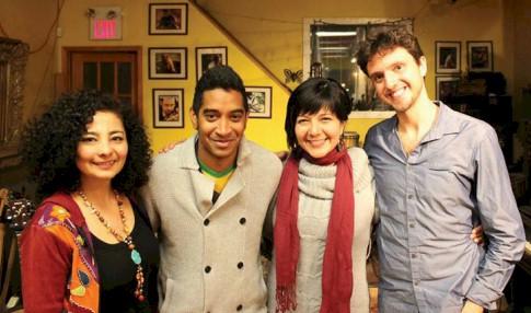 Participaron los músicos Rosy Cervantes y Alhelí Pimienta quienes contaron con la  colaboración de los artistas  Raymundo Sosa, y André