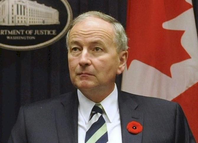 El ministro de Defensa de Canadá, Rob Nicholson. EFE/Archivo