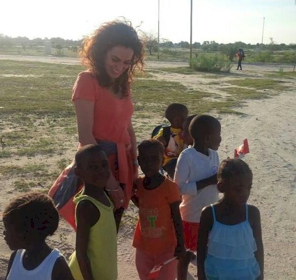 Amanda Martínez en Namibia