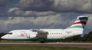 El avión de LaMia se estrelló la madrugada de este martes.