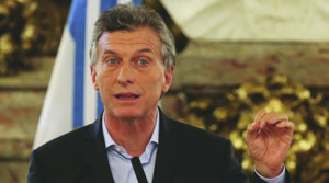 Mauricio Macri presidente de Argentina.