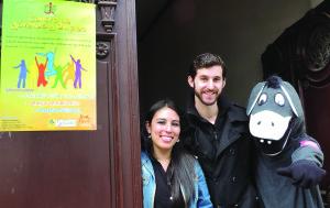 Maxim hizo su voluntario en Sucre, capital de Bolivia.