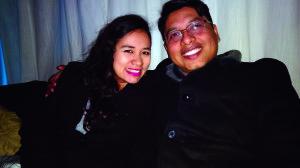 Mariela Flores y Alexander Terrazas.