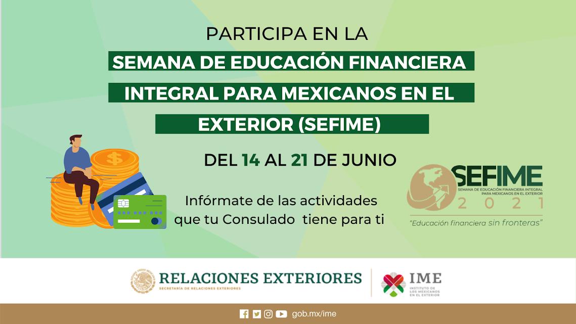 Celebran Semana de Educación Financiera para Mexicanos en el Exterior